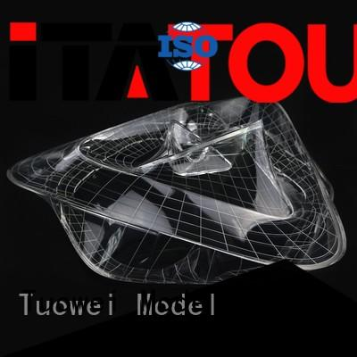 Tuowei light cnc machining pmma prototype car for aluminum