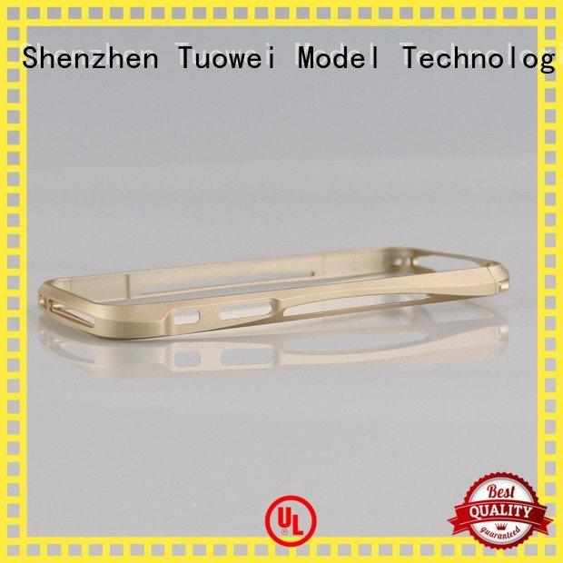 Tuowei testing cnc aluminum prototype protoype for plastic