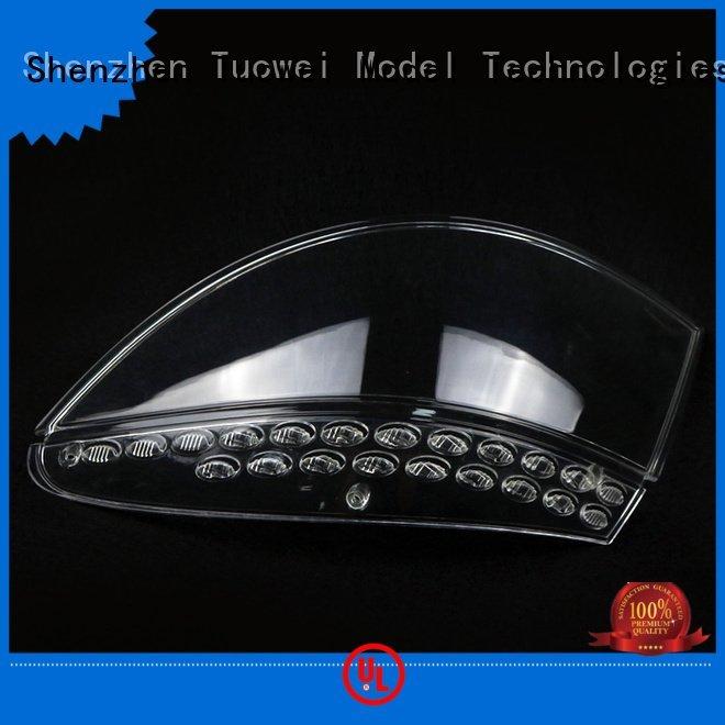 Tuowei polishing transparent pmma prototypes factory surface transparent