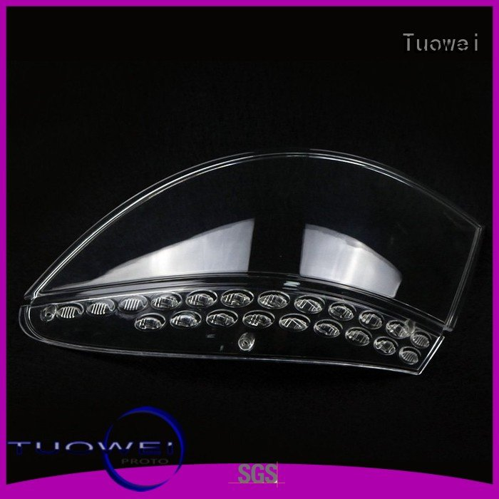 high quality tv headlights Tuowei Brand transparent pmma prototypes factory supplier