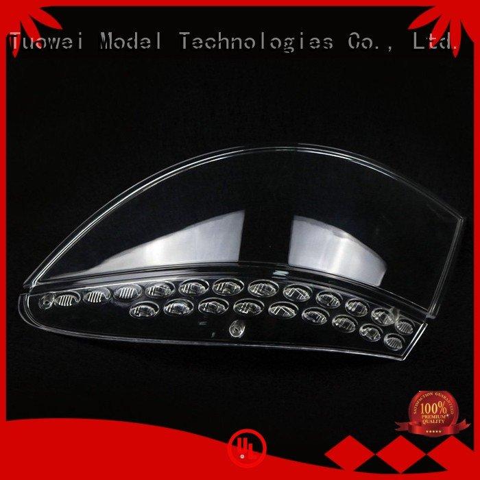 Custom centre transparent pmma prototypes factory converter Tuowei