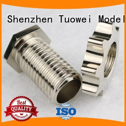 rubber sewing high quality small batch machining precision parts prototype Tuowei Brand
