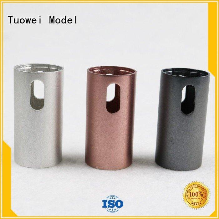 Tuowei testing cnc aluminum prototype mockup