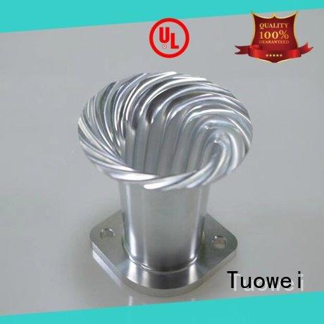 Tuowei metal aluminum alloy cnc rapid prototype design